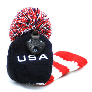 Hybrids-Utility-Knit-Headcovers-Pom-Pom-Golf-Rescue-Club-Head-Covers-USA-Knitted