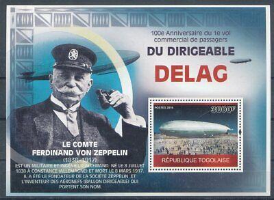 Ehrlichkeit 301172 Briefmarken Togo ** Blockausgabe Zeppelin GroßE Sorten Motive