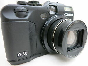 Canon-Powershot-G12-compact-digital-camera-5x-lens-made-in-Japan-tested
