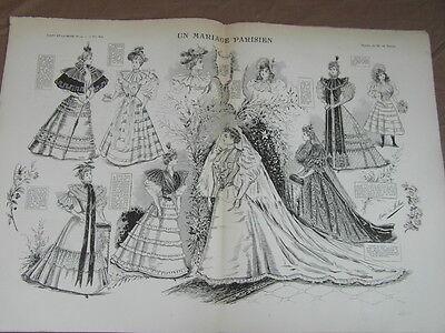 L' ART ET LA MODE - 1893 - No 19 - ILLUSTREE - UN MARIAGE PARISIEN