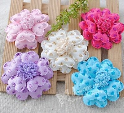 60mm Heart Padded Felt Appliques DIY Crafts Sewing/Wedding Accessories 5/15pcs