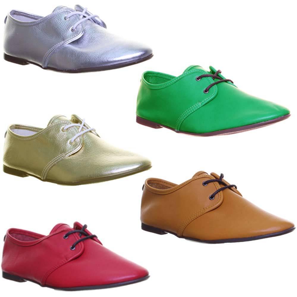 Justin Reece Damenschuhe Lace up Soft Leder Jazz Schuhe Größe UK 3 - 8
