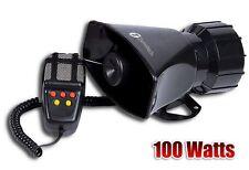 Zone Tech 100W 12V Car 5 Tone Alarm Police Fire Speaker PA Siren Horn MIC System