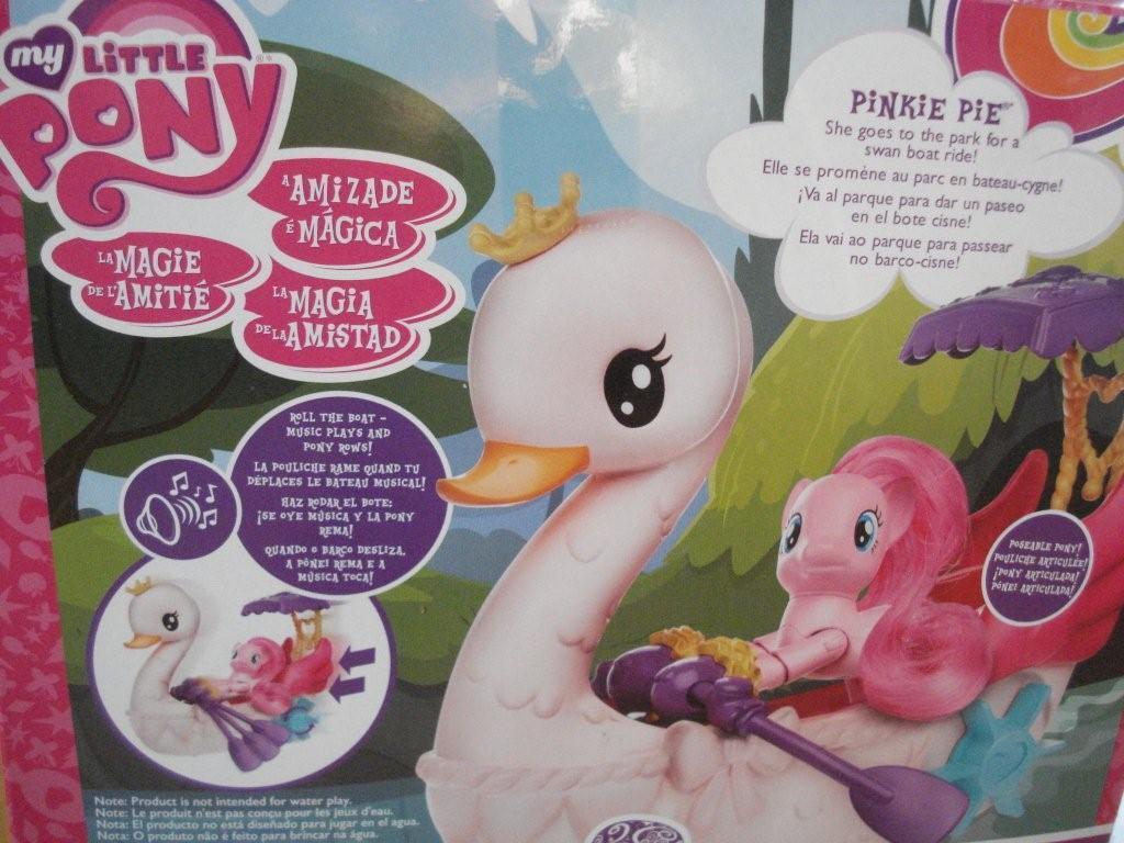 My Little Pony Pinkie Pinkie Pinkie Pie Row & Ride Swan Boat ddf005