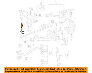 Details about GM OEM Front Suspension-Torsion Bar Adjust Bolt 14041596