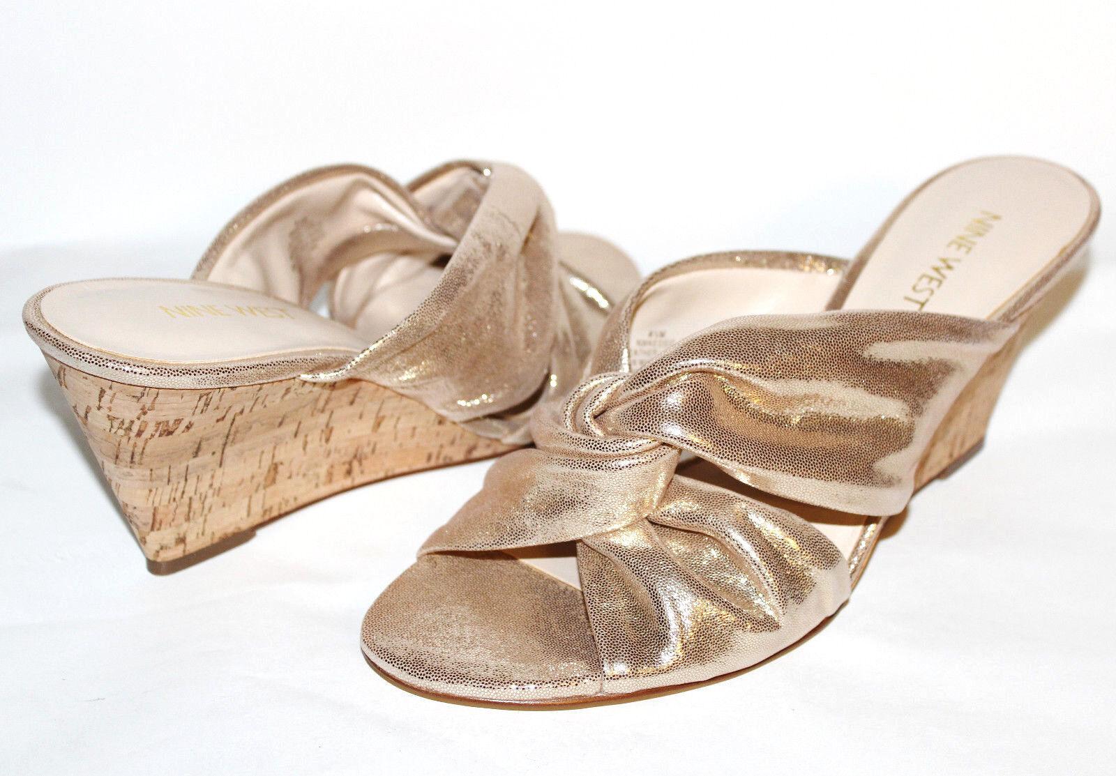 ✿ NINE WEST Kessie Knotted Gold Leder 3
