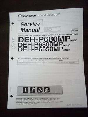 pioneer deh p6300 wiring diagram pioneer service manual for the deh p680mp p6800mp p6850mp car  pioneer service manual for the deh