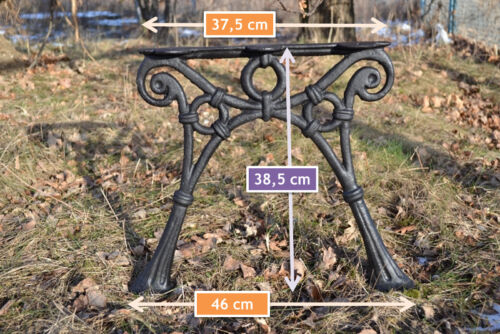 3 Bretter-ZAG06 2 schöne Bankfüße Seitenteile Gartenbank aus Gusseisen Schwarz