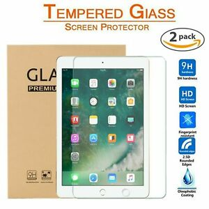 2 PCS FOR APPLE IPAD 2018 9.7 IN AIR 1/&2 SCREEN PROTECTOR TEMPERED GLASS HD FILM