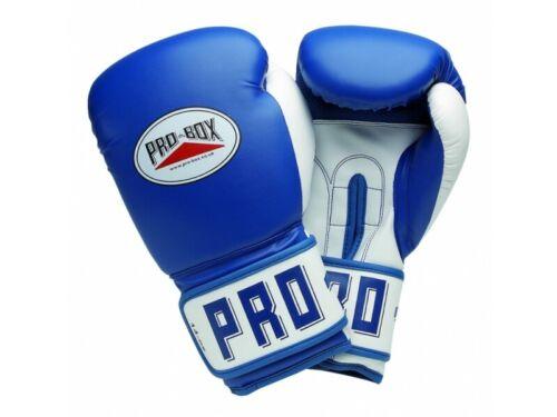 Pro Box PU CLUB ESSENTIALS BLUE SENIOR GLOVES 16 oz