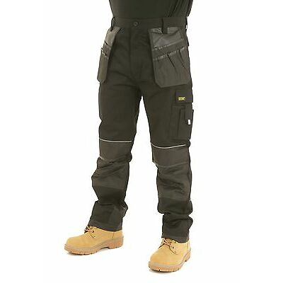 Mens Heavy Duty Cargo Holster Pocket Work Trousers By SITE KING - 008