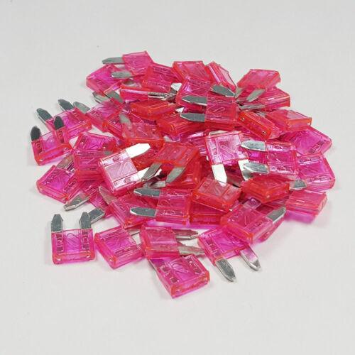 25 x 4 Amp Pink Mini Blade Fuse 4A Amps A ATM Grey Auto Car Van Bike Fuses