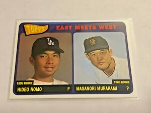 2001-Topps-Baseball-East-meets-West-Hideo-Nomo-Los-Angeles-Dodgers