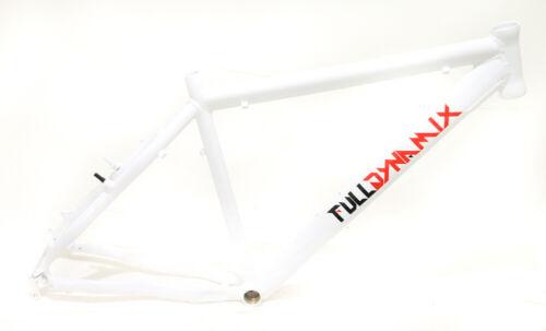 """Full Dynamix 26/"""" Aluminum 19/"""" Hardtail Mountain Bike Frame Disc White NEW"""
