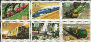1993-AUSTRALIA-Trains-Blk-6-MNH