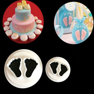 Homy Feel Baby Feet Fondant Chocolate Mold Wedding Cake Mould Decoration Baking Tool