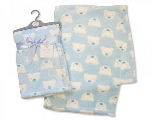 Baby Boys Girls Beautiful Soft Touch Wrap Blanket In Multi Colours