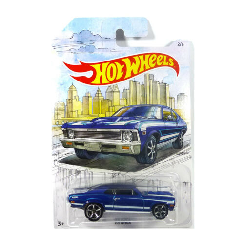 ° HOT WHEELS gdg44-09 Chevrolet Nova BLU metallizzato Scala 1:64 NUOVO