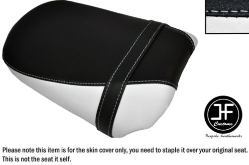 BLACK /& WHITE VINYL CUSTOM FITS KAWASAKI VULCAN S 650 2015 REAR SEAT COVER ONLY