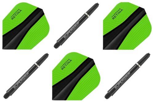 Retina X-Flight Dartshaft Dartflights Dartzubehör Harrows Super Grip 42mm inkl