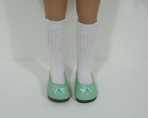 "LT GREEN Flats CF Doll Shoes For Dianna Effner 13/"" Little Darling Vinyl Debs"