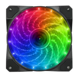 CIT-Spectrum-12CM-RGB-LED-Anello-VENTOLA-DI-RAFFREDDAMENTO-CASE-PC-120mm-4-Pin-Connettore-Molex