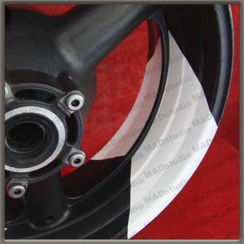 WHITE Wheels Stickers Decals SUZUKI-HONDA-YAMAHA-KAWASAKI-BMW-DUCATI-APRILIA