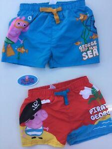 3f8b5b082540e Boys Swim Shorts with Peppa Pig George detail 18-24 months, 2-3 ...