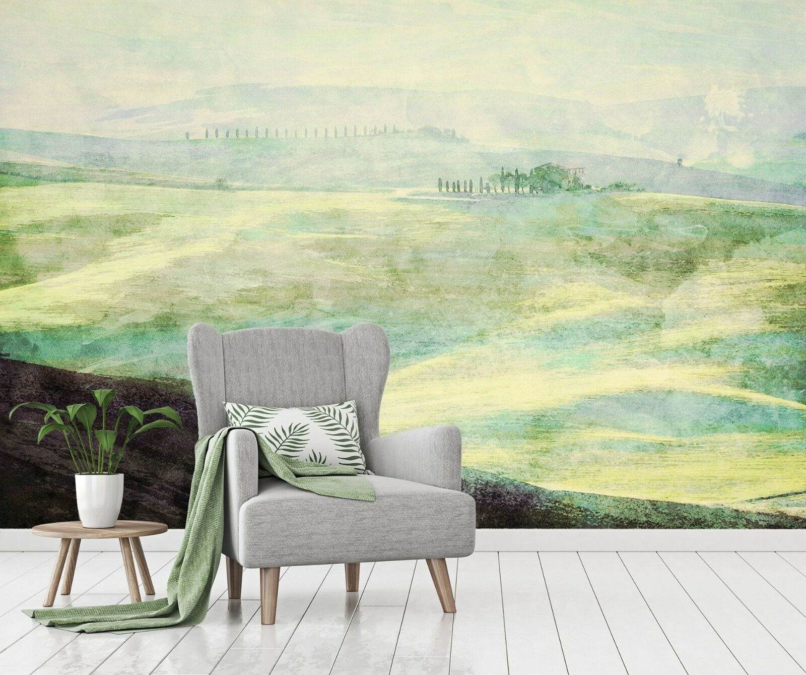 3D Misty Pastoral Scenery 43 Wall Paper Wall Print Decal Wall Deco Indoor Murals