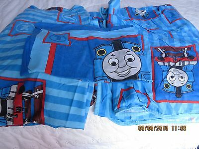 Thomas Tank Engine Twin Blanket Flat and Fitted Sheet Pillow Case Soft Bright!