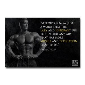 CT Fletcher Bodybuilding Motivational Art Silk Canvas Poster 12x21 24x43 inch