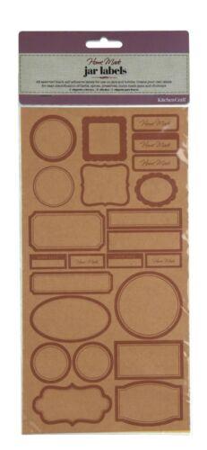 Kitchencraft pack 46 auto adhésif bocal//bouteille étiquettes//stickers jam//Chutney//Pickle