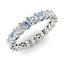 thumbnail 1 - 2.54 Ct Round Diamond Aquamarine Engagement Eternity Band 14K White Gold Size 5