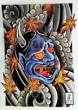 JAPANESE DEMON DEVIL TATTOO ART A3 POSTER PRINT HAL657