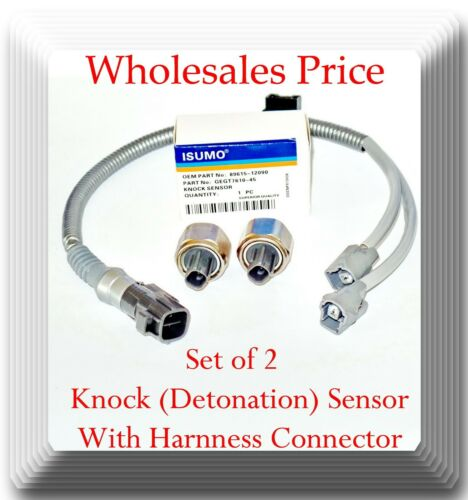 2 Pieces Knock Sensor With Electrical Connector Fits:GEO Lexus Toyota Harness