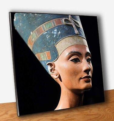 Poster Nefertiti Stampa Fine Art Quadro su Pannello MDF Arte Egitto