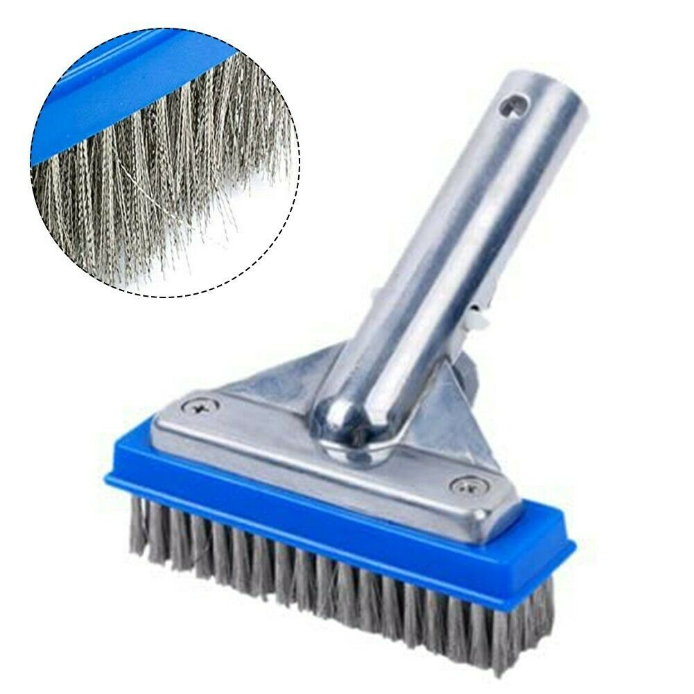 1 X Aluminium Heavy Duty 5.5in Swimming Pool Clean Brush Head For Cleaning Pool
