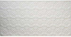 Details about Ceiling Tiles Matte White Faux Tin Style Backsplash Kitchen  Office Room Decor