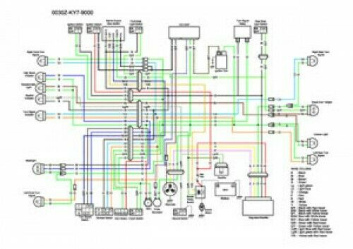 1988-1990 Honda NX125 Color Wiring Diagram | eBayeBay