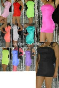 Tube-Dress-S-XL-Size-amp-Color-Choice-Neon-Blacklight-Glow-Mini-Top-Made-in-USA