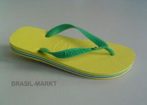 Havaianas-Typ-Brasil-gelb-gruen-Gr-37-38-NEU