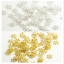 100 PCS  6//8//10 MM Gold Silver Snowflake Daisy Spacer Bead DIY Jewelry Making