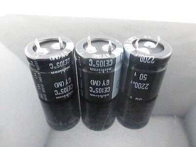11pcs Nichicon GY 2200uf 50v 2200mfd  electrolytic Capacitor 22*25mm 105°C