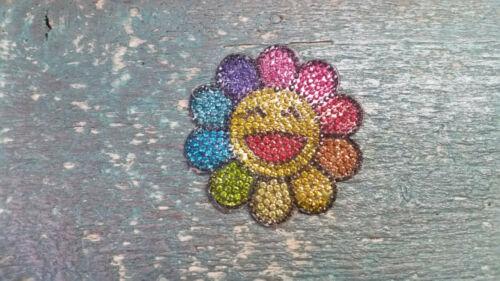 Patch tournesol multicolores Smiley Avec STRASS Application Bügelbild
