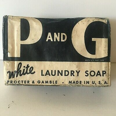 P AND G Vintage WHITE NAPTHA SOAP Bar PROCTER /& GAMBLE Unopened Old Stock