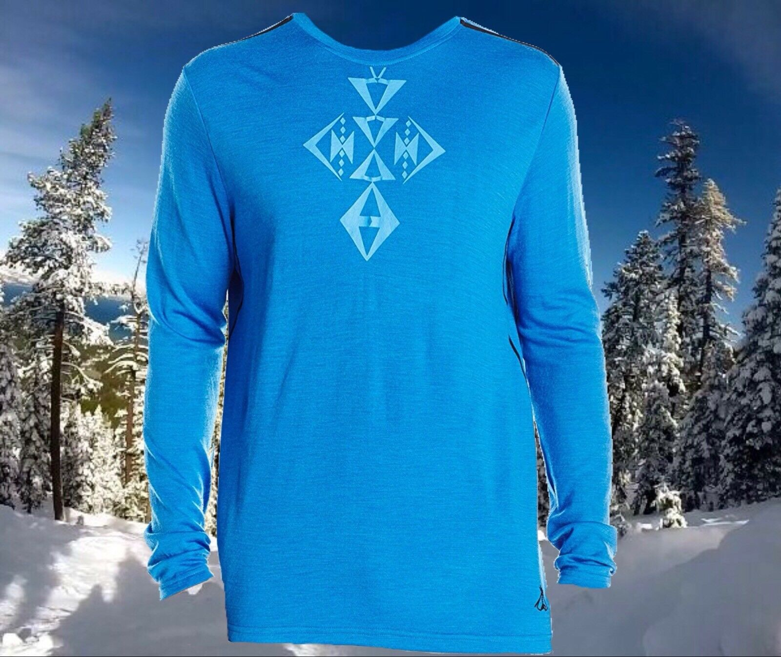 Pendleton Mens Small bluee Soft Merino Wool Base  Layer Ski Snowboard Crew Top Nwt  looking for sales agent