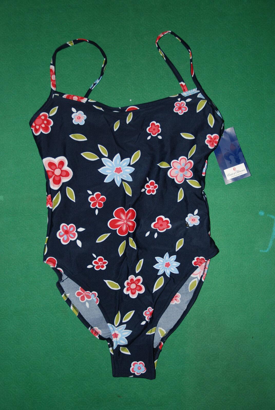 Vintage CONTE OF FLORENCE bikini sea Swim wear Suit 46 BNWT NOS floreal lycra