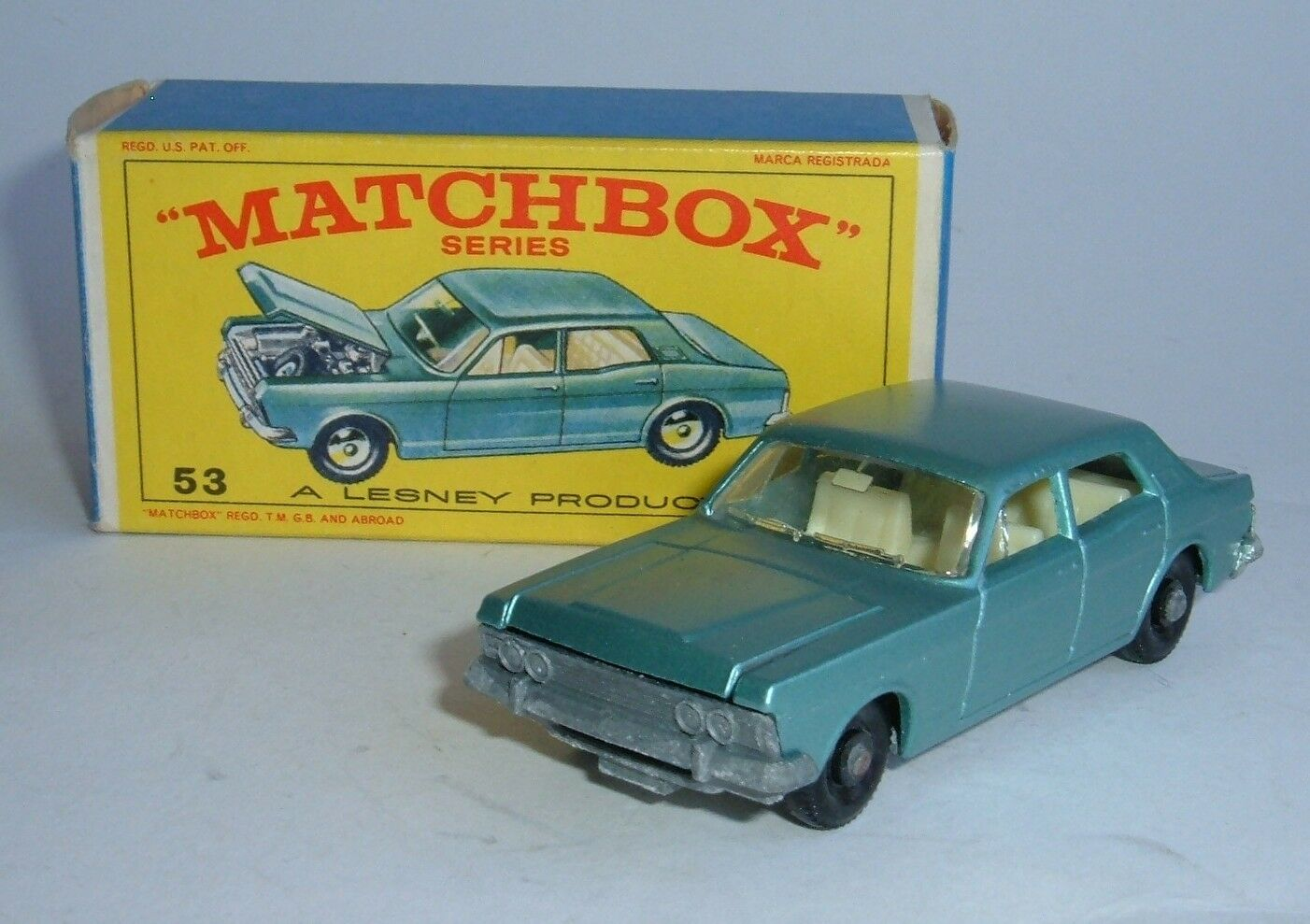 Matchbox series no. 53, ford zodiac iv, - superbe mint.