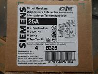 Surplus Panel Pullout Siemens B325 BL 3 pole 25 amp Circuit Breaker Building Supplies