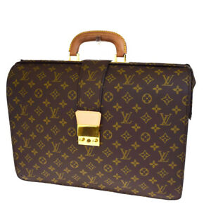 Auth-LOUIS-VUITTON-Old-Serviette-Fermoir-Briefcase-Bag-Monogram-M53305-31V2792